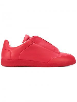 Кроссовки с откидными клапанами сверху Maison Margiela. Цвет: красный