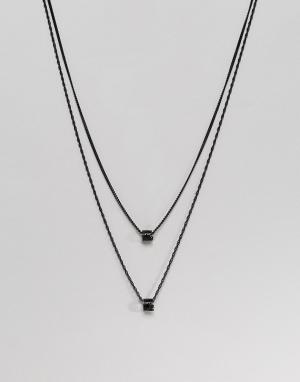 MISTER Черное ожерелье. Цвет: черный