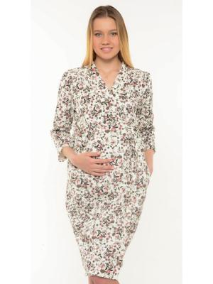 Платье-халат Ням-Ням. Цвет: молочный,бледно-розовый,черный,оливковый,светло-коралловый