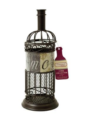 Декоративная емкость для винных пробок/мелочей Amour BOSTON. Цвет: коричневый