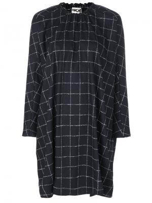 Windowpane check dress Hache. Цвет: синий