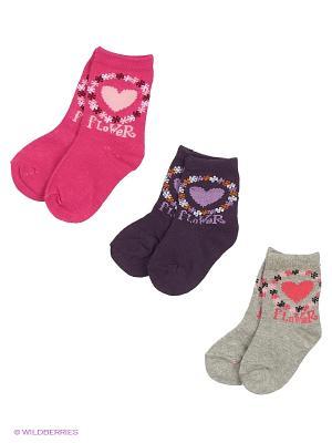 Носки DAG. Цвет: серый, розовый