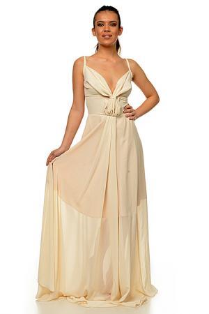 Платье Mashenka by J.A.. Цвет: бежевый