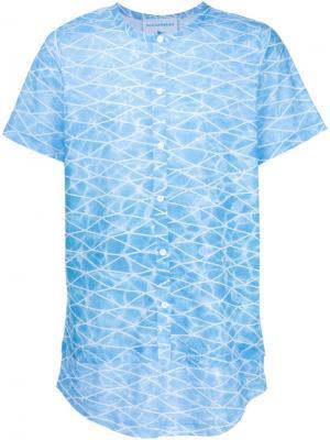 Рубашка с абстрактным принтом Rochambeau. Цвет: синий
