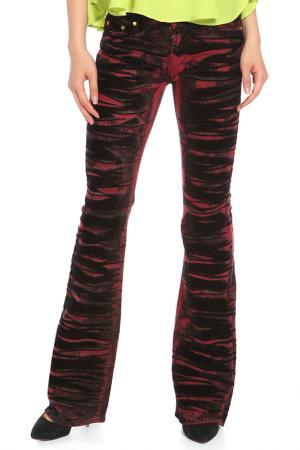 Брюки Versace. Цвет: бордовый, черный
