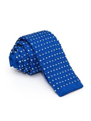 Галстук Churchill accessories. Цвет: синий, голубой, белый