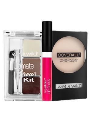 Подарочный набор WnW 140 Wet n Wild. Цвет: розовый, бежевый, зеленый