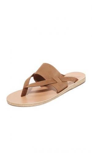 Сандалии с ремешками Zenobia Ancient Greek Sandals. Цвет: капучино