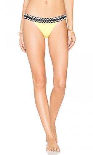 Rio low rise bikini bottom Sauvage. Цвет: желтый