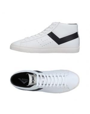 Высокие кеды и кроссовки PONY. Цвет: белый