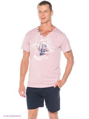 Комплект Vienetta Secret. Цвет: темно-синий, розовый
