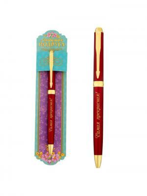 Ручка шариковая Bizon. Цвет: красный