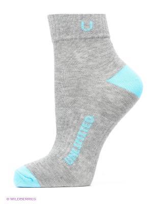 Носки спортивные 5 пар Unlimited. Цвет: серый меланж, морская волна