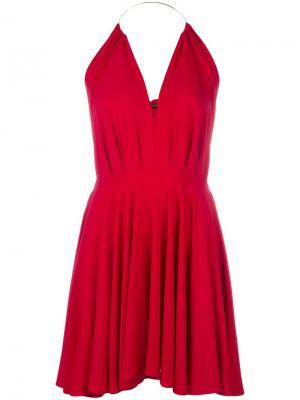 Платье со складками Plein Sud. Цвет: красный