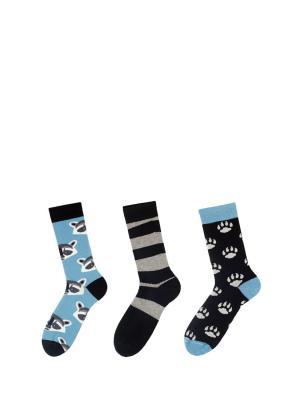 Носки Sammy Icon. Цвет: черный,голубой,белый