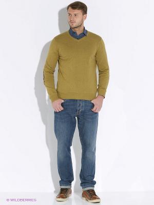 Пуловер Delahaye. Цвет: горчичный