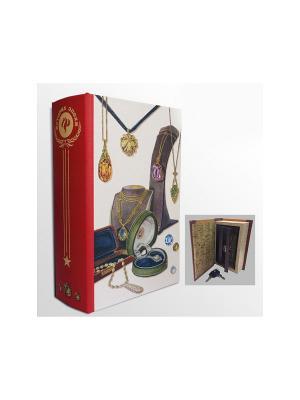 Шкатулка-сейф Подвески арт.39519 (17*11*5см,из МДФ  с дверцей из черного металла) Magic Home. Цвет: белый