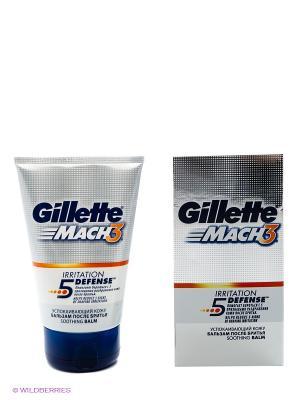 Бальзам после бритья MACH3, успокаивающий кожу GILLETTE. Цвет: серебристый