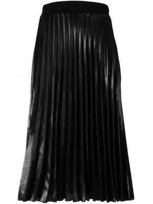 Плиссированная юбка миди Ssheena. Цвет: чёрный