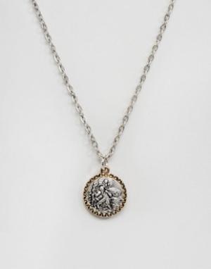 Icon Brand Серебристое ожерелье с подвеской. Цвет: серебряный