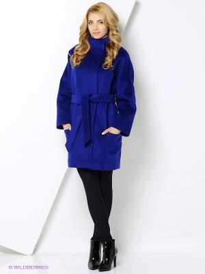 Пальто Amulet. Цвет: темно-синий, темно-фиолетовый