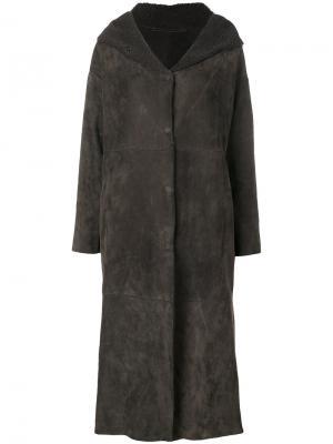 Hooded coat Salvatore Santoro. Цвет: коричневый