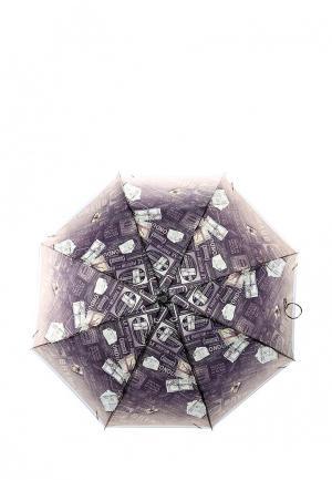 Зонт складной Fabretti. Цвет: коричневый