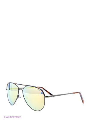 Солнцезащитные очки Polaroid. Цвет: серебристый, желтый, коричневый