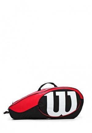 Сумка спортивная Wilson. Цвет: разноцветный
