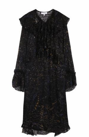 Платье-миди свободного кроя с оборками Iro. Цвет: черный