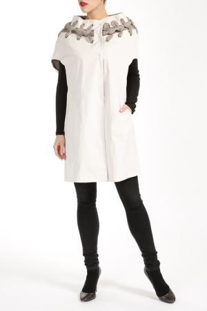 Пальто Salco. Цвет: белый