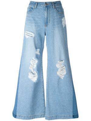 Свободные расклешенные джинсы Sjyp. Цвет: синий