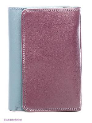 Кошелек Mywalit. Цвет: серо-голубой, бордовый