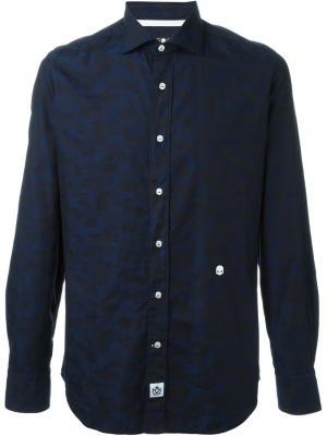 Камуфляжная рубашка Hydrogen. Цвет: синий