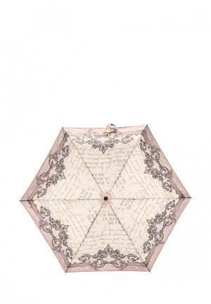 Зонт складной Fabretti. Цвет: бежевый