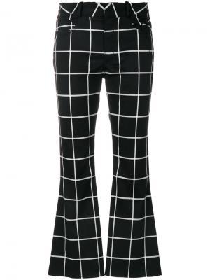 Расклешенные брюки в клетку Marquesalmeida Marques'almeida. Цвет: чёрный