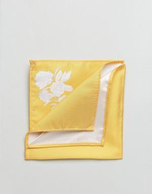 ASOS Платок для нагрудного кармана горчичного цвета. Цвет: желтый
