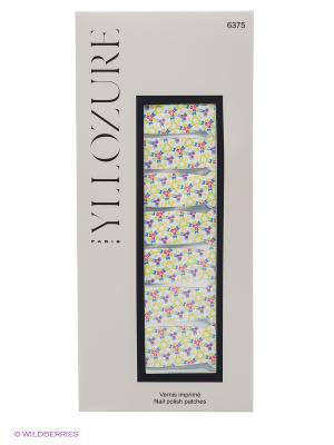 Лаковый стикер для ногтей Гламур , тон  75 ИЛЛОЗУР. Цвет: белый, оранжевый, светло-зеленый