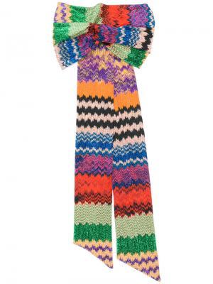Вязаная повязка на голову с полосатым узором Missoni. Цвет: none