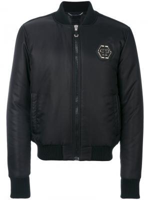 Куртка-бомбер Elvis Philipp Plein. Цвет: чёрный