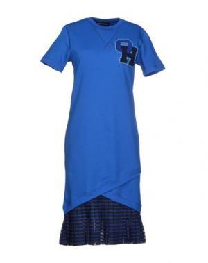 Платье до колена OSTWALD HELGASON. Цвет: синий