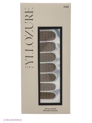 Лаковые стикеры для ногтей, тон  66 ИЛЛОЗУР. Цвет: бежевый, черный