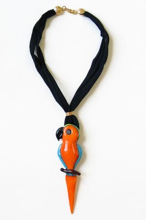 Колье Pappagallo Divetro. Цвет: оранжевый, черный