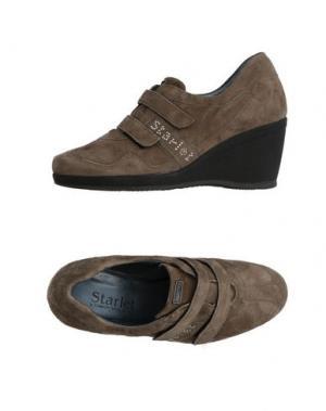 Низкие кеды и кроссовки STARLET. Цвет: серый