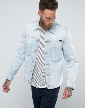 Nudie Jeans Светлая джинсовая куртка Co. Цвет: синий