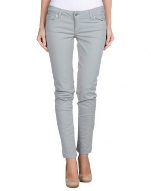 Повседневные брюки POIS. Цвет: светло-серый