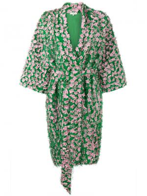 Пиджак с цветочным украшением Natasha Zinko. Цвет: зелёный