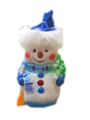 Кукла Снеговик под елку, 30 см Карнавал-Премьер. Цвет: серебристый
