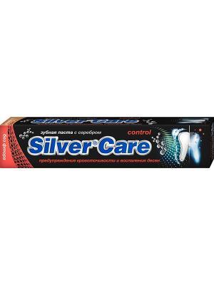 Зубная паста Control  без фтора, 75мл Silver Care. Цвет: черный, оранжевый, синий