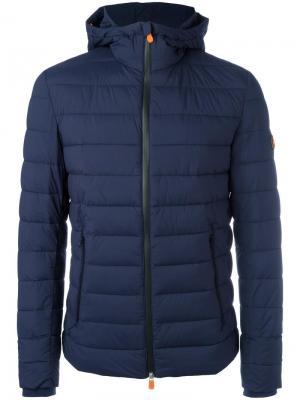 Hooded padded jacket Save The Duck. Цвет: синий